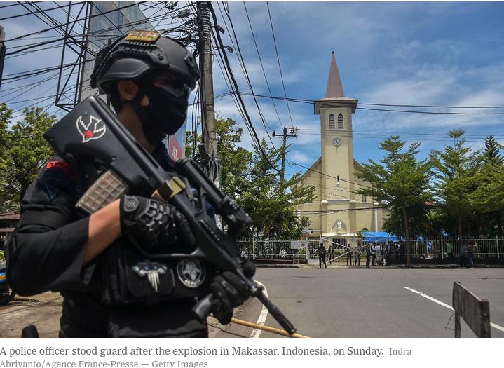 Suicide Jihadi attacks Church