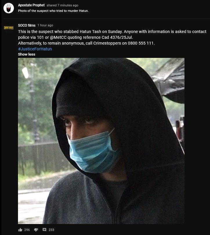 Masked Muslim is Hatun's stabber