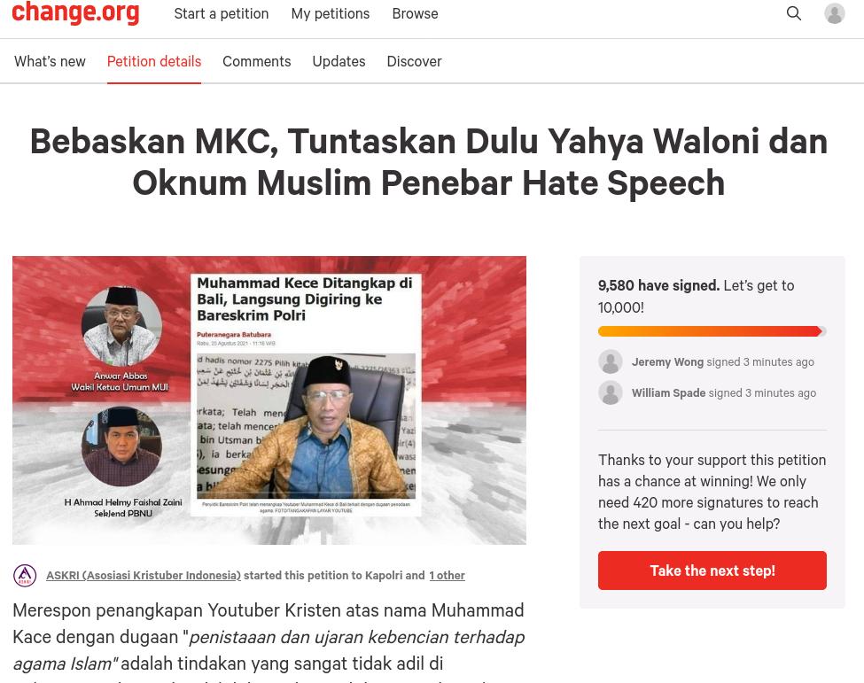 Petition to free Muhammad Kace
